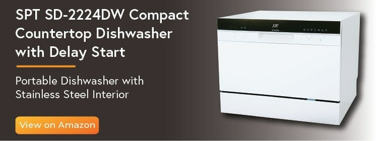 02-SPT SD-2224DW Compact Countertop Dishwasher