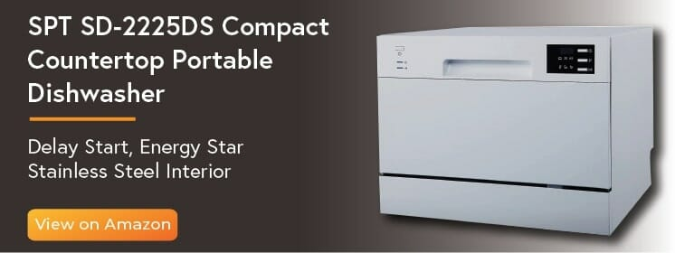 05-SPT SD-2225DS Compact Countertop Dishwasher
