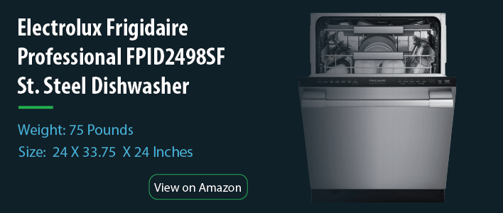 Electrolux Frigidaire - Professional FPID2498SF Built-in Fully Integrated Dishwasher